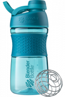 Шейкер Blender Bottle SportMixer Twist Cap Full Color, бирюзовый, 591 мл